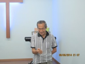 25th April 2014 - Mr.Khaw, Age 77. 4 months of chronic cough. He could no longer converse without coughing and did not respond to medical treatment. 60% been healed after praying for the 1st time and completely healed after praying for the 2nd time. Doctor had verified the healing.